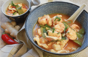 Tom Yum Soup with Chicken & Shrimp