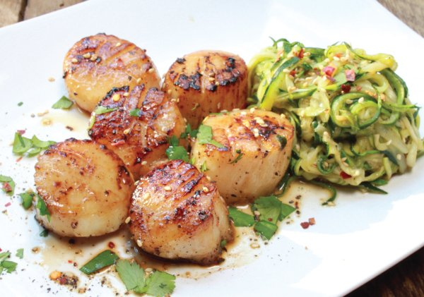 Pan Seared Asian Scallops