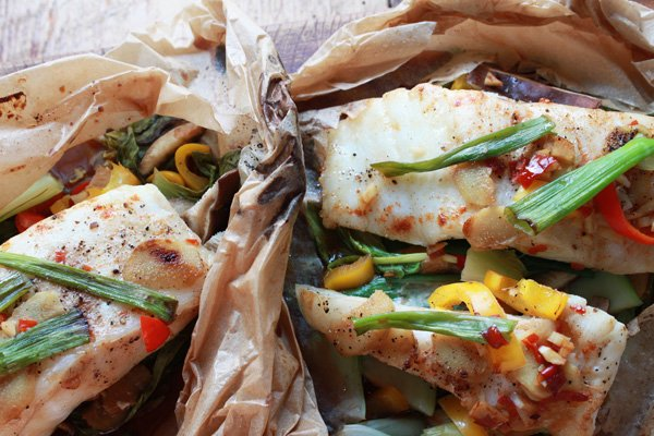 Chilean Sea Bass in Parchment