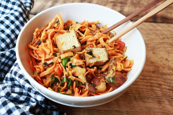 sweet potato noodles with tofu