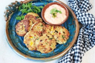 Mini Thai Crab Cakes with Spicy Aioli