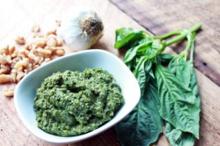 Thai Basil Mint Cilantro Pesto