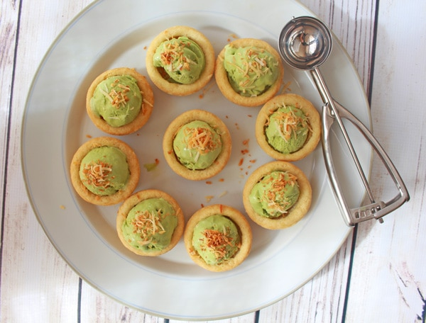 Avocado Green Tea Ice Cream Cups